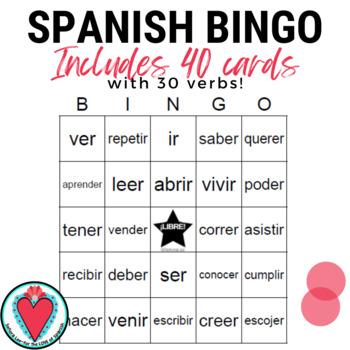 Spanish Bingo: -ER/-IR Verbs   Spanish Infinitives