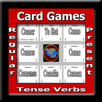 Spanish Verbs Card Game Subject Verb Agreement Regular Present