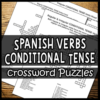 Spanish Verbs – Conjugating the Conditional Tense (Crossword Puzzles)