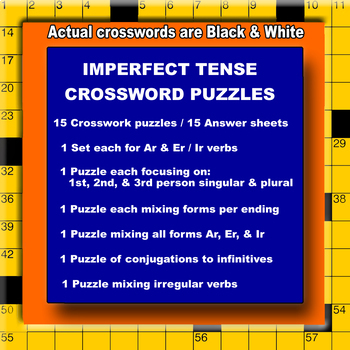 Spanish Verbs – Conjugating the Imperfect Tense (Crossword Puzzles)