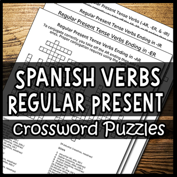Spanish Verbs – Conjugating the Present Tense (Crossword Puzzles)