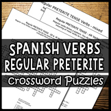 Spanish Verbs – Conjugating the Preterite Tense (Crossword