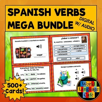 Spanish Distance Learning, Spanish 1 Verbs Digital Flashcards, Boom