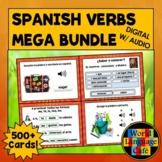 Spanish Verbs Boom Cards, Spanish Digital Flashcards, Regu