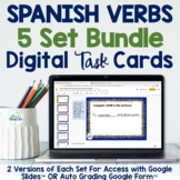 Spanish Verbs Digital Task Cards Bundle for Google Drive