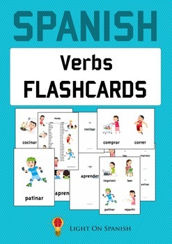 Spanish  Verbs Flashcards and Posters - Tarjetas y posters