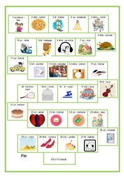 Spanish Verbs Game Board ~ Juego de mesa para los verbos