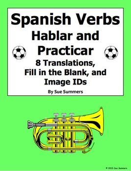 Spanish Verbs Hablar and Practicar with Adverbs of Frequency and Image IDs