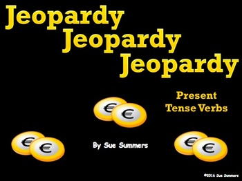 Spanish Verbs Jeopardy Game - Spanish Games