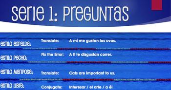 Spanish Verbs Like Gustar Relay Race