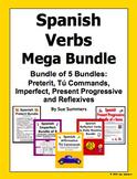 Spanish Verbs Mega Bundle of 5 Including Preterit, Imperfe