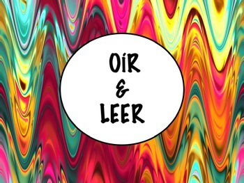 Spanish Oir & Leer PowerPoint Slideshow Presentation