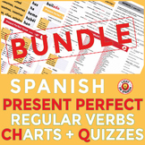 Spanish Present Perfect Regular Conjugation Charts and Quizzes Bundle
