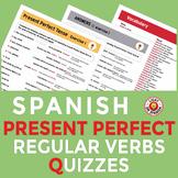 Spanish Present Perfect Tense Regular Verbs Quizzes