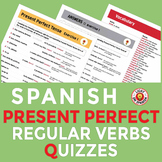 Spanish Present Perfect Tense Regular Verbs Quizzes