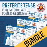 Spanish Preterite Tense Regular Conjugation Charts and Quizzes Bundle