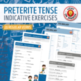 Spanish Preterite Tense Regular Verbs Quizzes