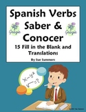 Spanish Verbs Saber and Conocer 15 Fill in the Blank and Translations
