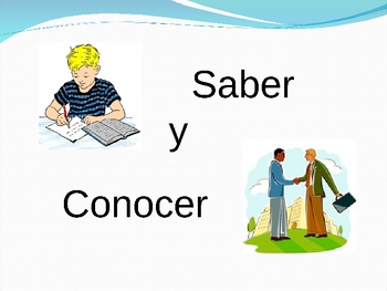 spanish verbs saber and conocer activity by world language classroom. Black Bedroom Furniture Sets. Home Design Ideas