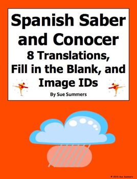 Spanish Verbs Saber and Conocer and Image IDs