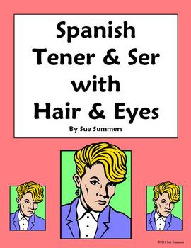 Spanish Verbs Tener, Ser with Hair and Eye Descriptions of Family