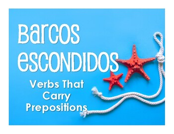 Spanish Verbs That Carry Prepositions Battleship-Style Game