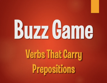 Spanish Verbs That Carry Prepositions Buzz Game