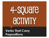 Spanish Verbs That Carry Prepositions Four Square Activity