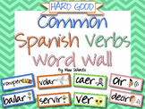 Spanish Verbs Word Wall & Bulletin Board Set {HARD GOOD}