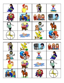 Spanish Verbs and Me Gusta Vocabulary Bingo
