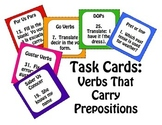 Spanish Verbs that Carry Prepositions Task Cards