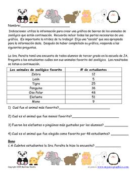 Spanish Version-Zoo Animal Graph