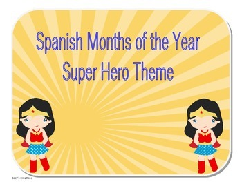 Spanish Version Months of the Year Hero Theme