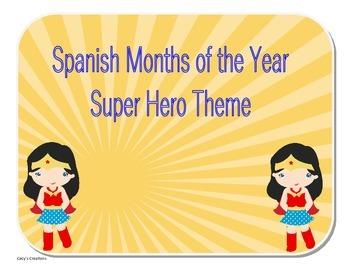 Spanish Version Months of the Year Hero Theme