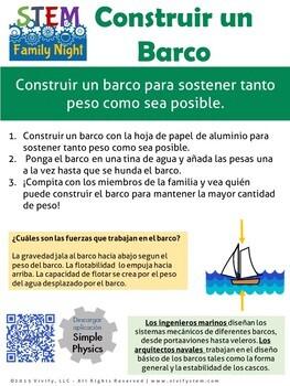 Spanish Version: STEM Family Night Activity Handouts & Posters