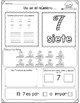 Spanish Version, Summer Fun With Kindergarten Math FREEBIE!