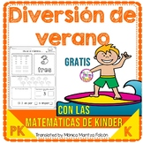 Kindergarten Math in Spanish FREE | NO PREP Summer or Back