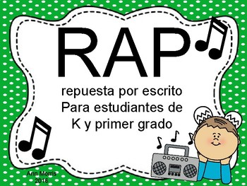 Spanish Version of RAP written response posters