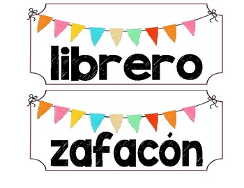 Spanish Vesion - Classroom Labels