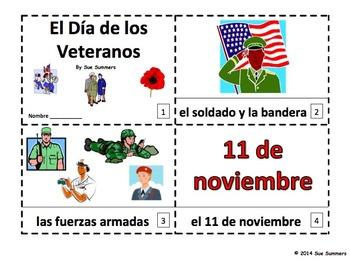 Spanish Veterans Day - 2 Emergent Reader Booklets
