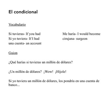 Spanish Video for the Conditional Tense