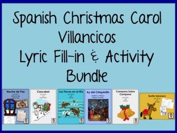 Spanish Villancico Christmas Carol Lyric Fill-in bundle