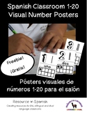 Spanish Visual Classroom Number Posters