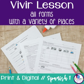 Spanish Vivir with Places Lesson