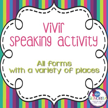 Spanish Vivir with Places Speaking Activity