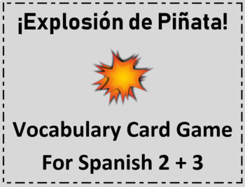 """Spanish Vocab Card Game """"Exploding Kittens"""" Classroom version """"Places + Stores"""""""