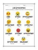 Spanish Vocab - Las Emociones   Printable Worksheets