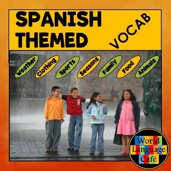Spanish 1 Vocabulary Lists (34 Themes)