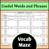 Spanish Vocab Maze Activity - Useful Words and Phrases