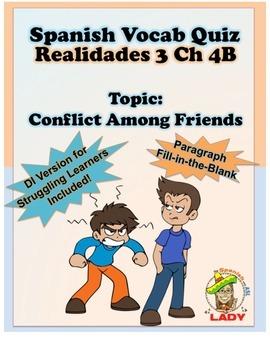 Spanish Vocab Quiz: Realidades 3 Chapter 4B